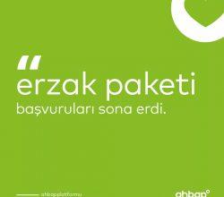 Ahbap'ta Erzak Paket Başvuruları Durduruldu.